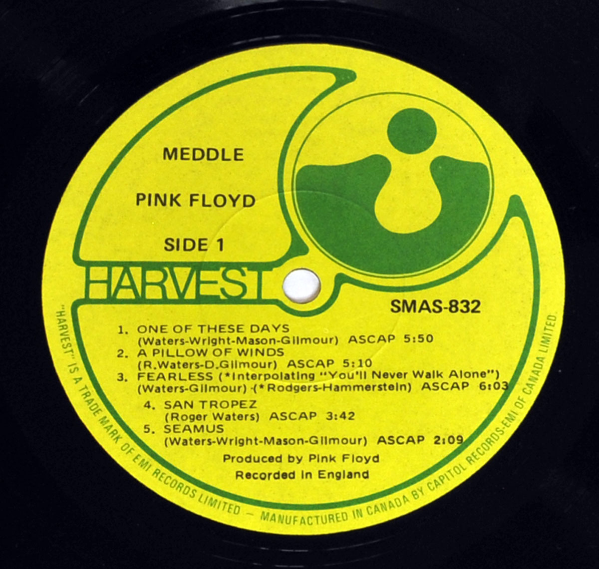 High Resolution Photo #5 PINK FLOYD Meddle Canada