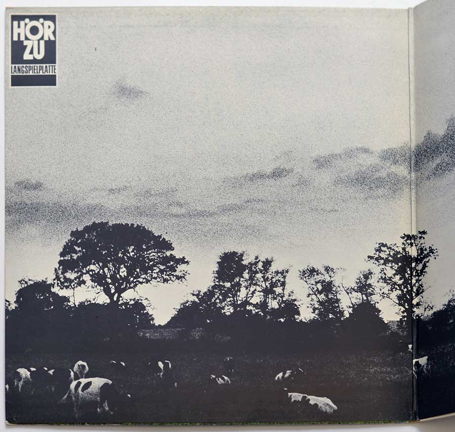 Photo of the left page inside cover PINK FLOYD - Atom Heart Mother Germany HÖR ZU