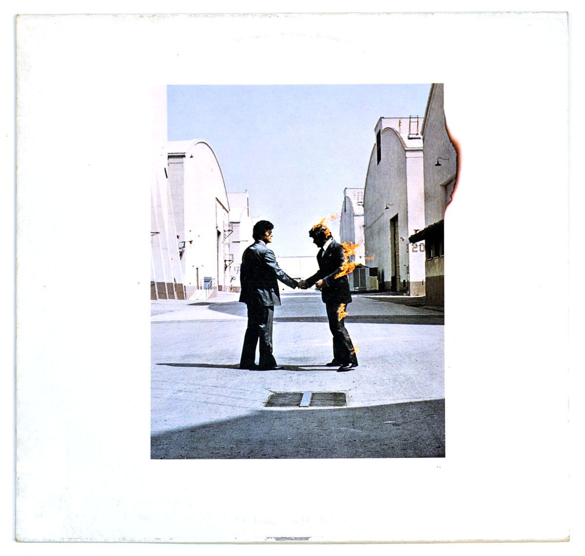 "PINK FLOYD - Wish You Were Here (Germany) 12"" Vinyl LP Album front cover https://vinyl-records.nl"