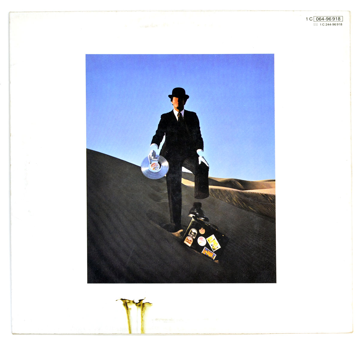 "PINK FLOYD - Wish You Were Here (Germany) 12"" Vinyl LP Album back cover"