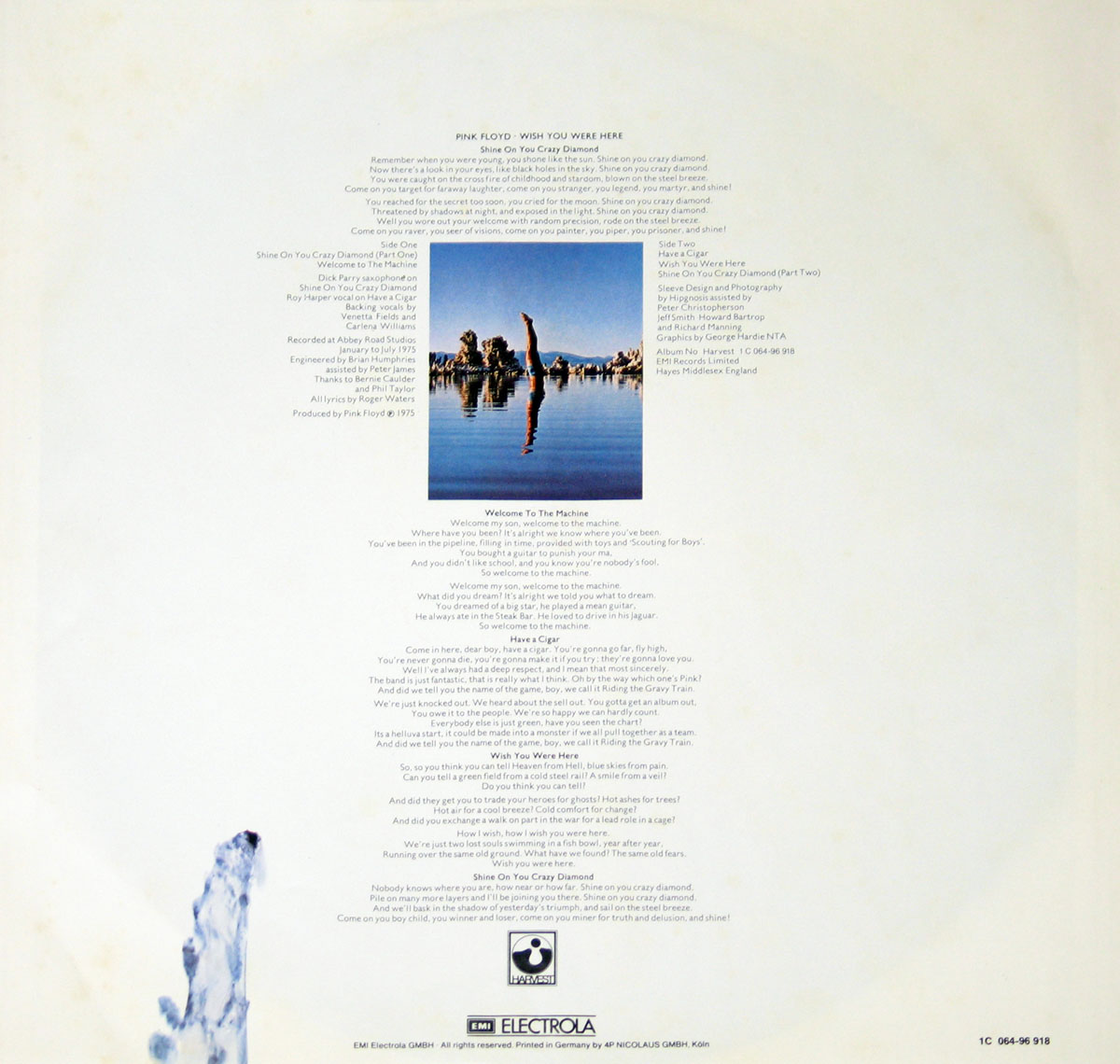 High Resolution Photo #4 PINK FLOYD Wish You Were Germany