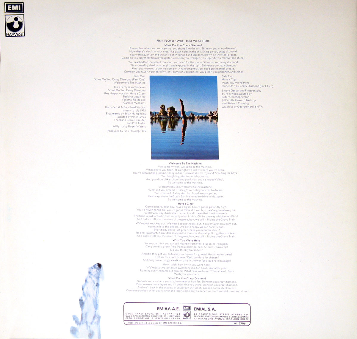 High Resolution Photo #4 PINK FLOYD Wish You Were Greece