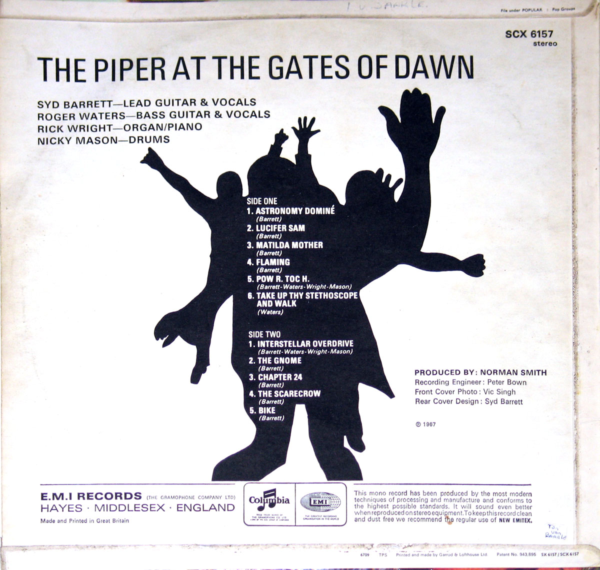 High Resolution Photo #2 PINK FLOYD Piper Gates UK3