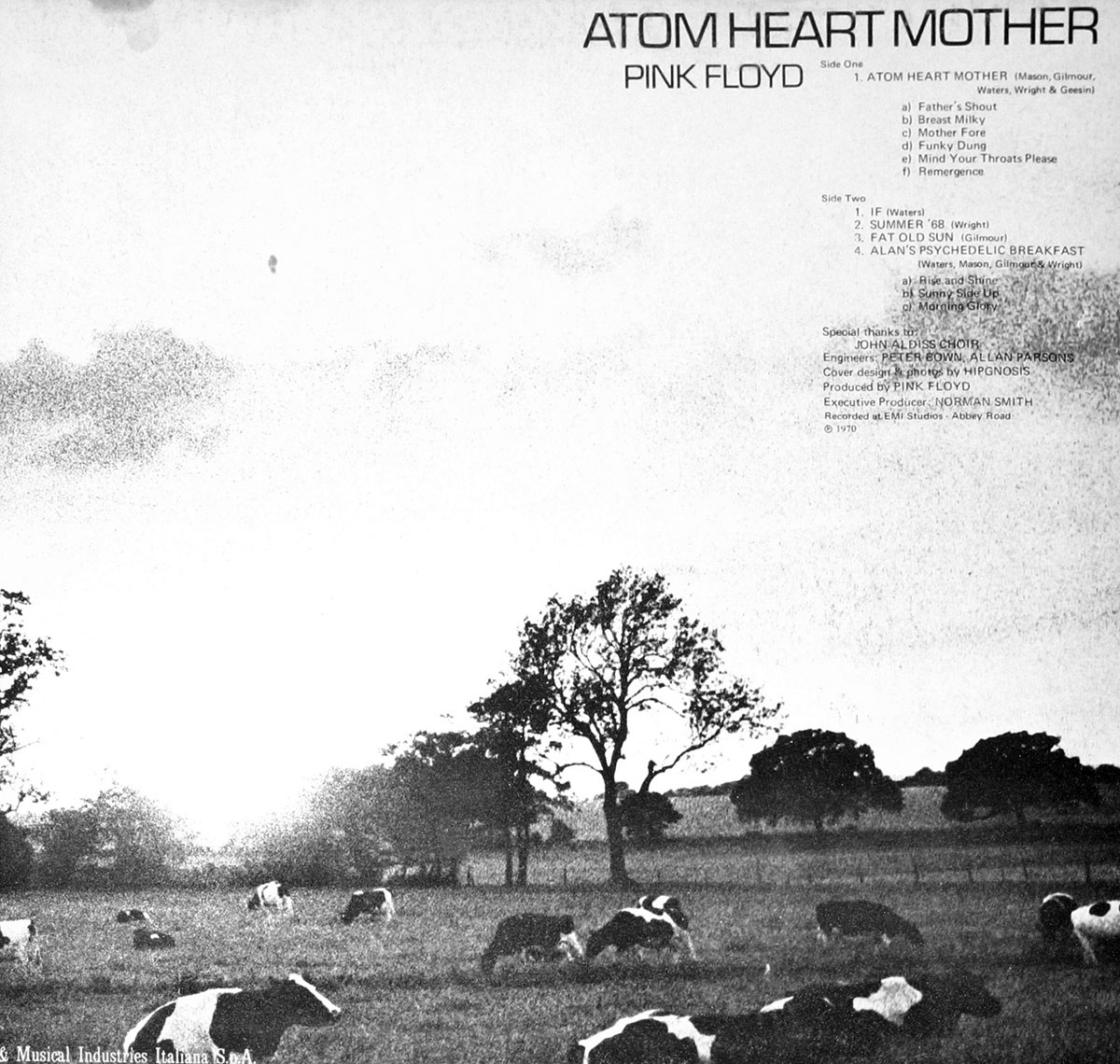 High Resolution Photo #4 PINK FLOYD Atom Heart Italy 1st2nd