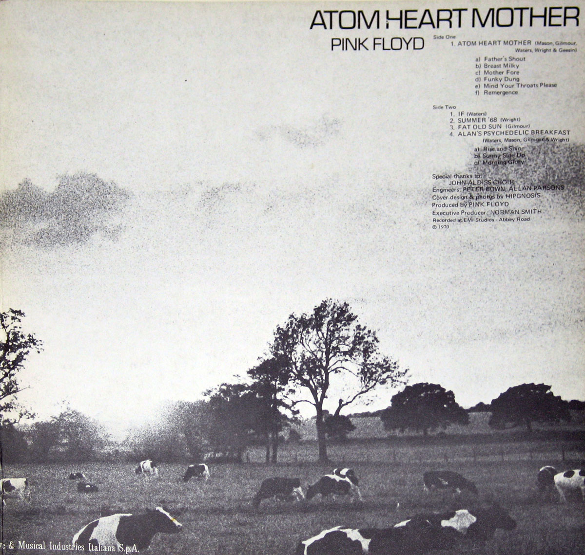 High Resolution Photo #4 PINK FLOYD Atom Heart Italy