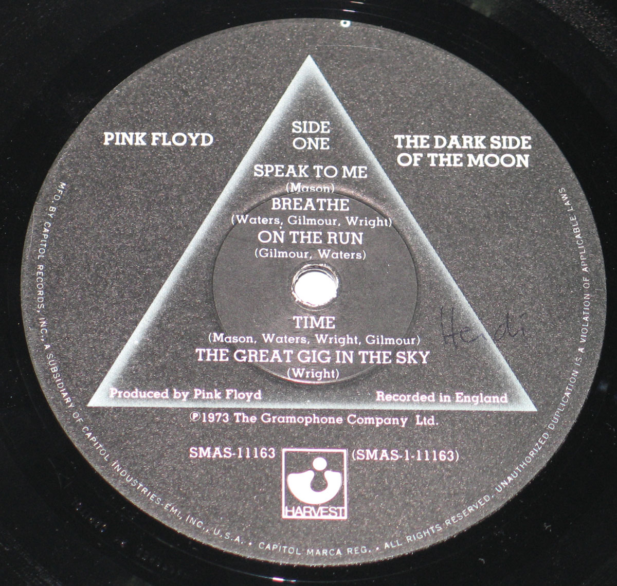 High Resolution Photo #2 PINK FLOYD Dark Side Moon USA