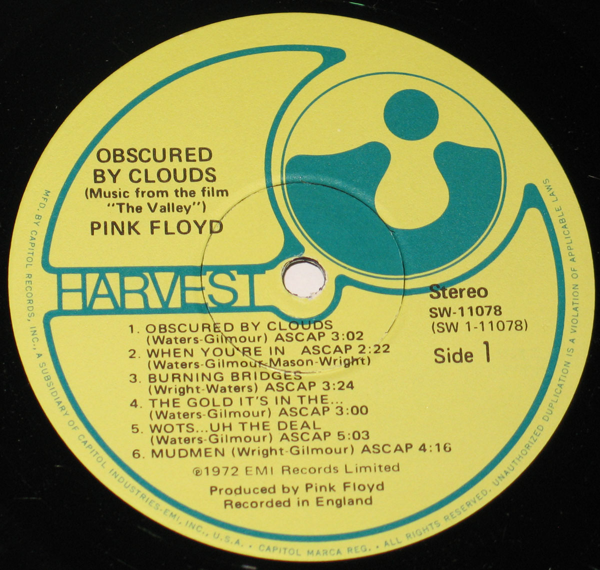High Resolution Photo #3 PINK FLOYD Obscured Clouds USA