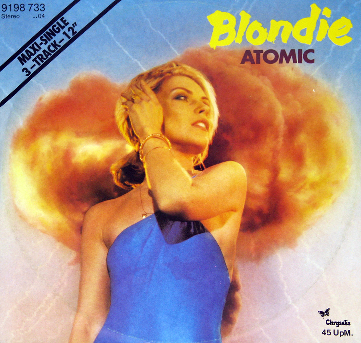 large photo of the album front cover of: Blondie - Atomic