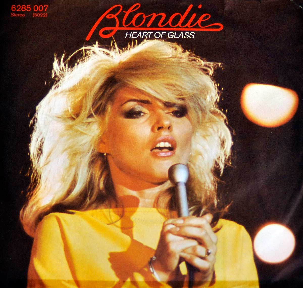 large photo of the album front cover of: BLONDIE HEART OF GLASS