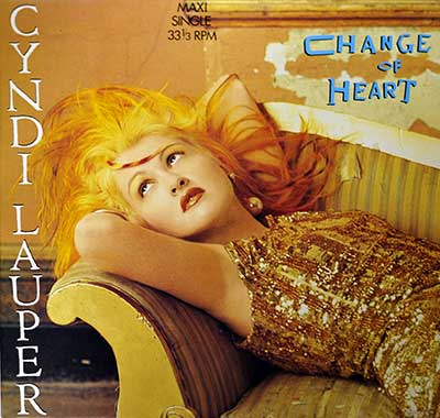 "Thumbnail of CYNDI LAUPER - Change of Heart 12"" Maxi Single album front cover"