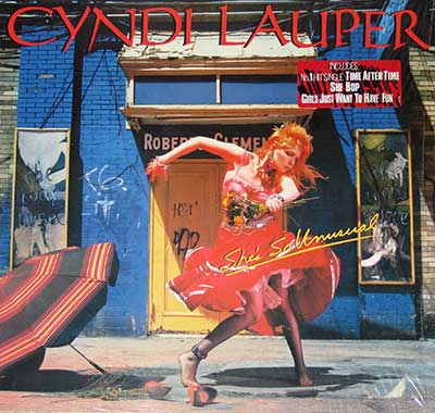 "Thumbnail of CYNDI LAUPER - She's So Unusual 12"" Vinyl LP album front cover"