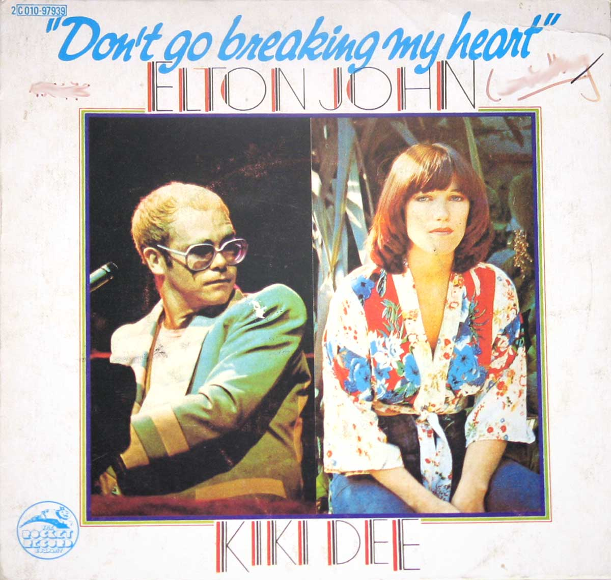 large photo of the album front cover of: ELTON JOHN & KIKI DEE - Dont go breaking my Heart