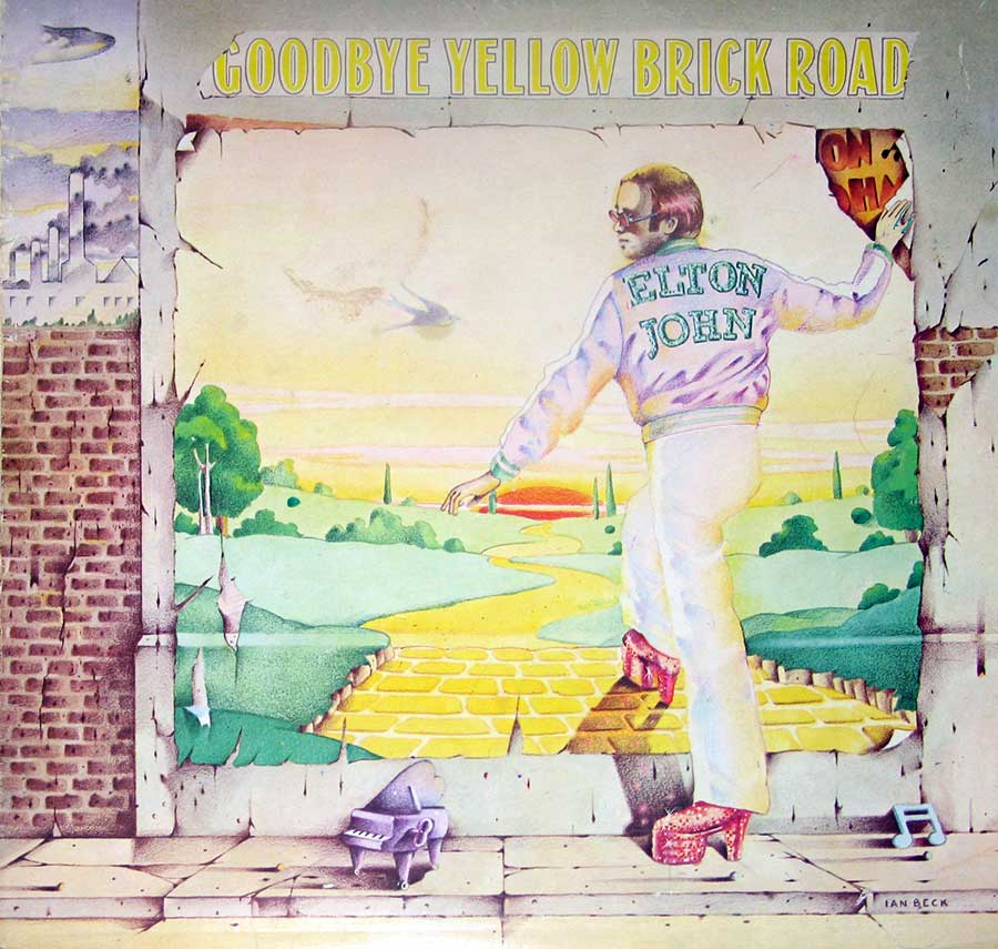 "ELTON JOHN - Goodbye Yellow Brick Road Gatefold 2LP 12"" Vinyl Album album front cover"