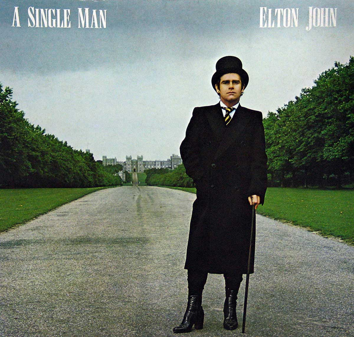 large photo of the album front cover of: ELTON JOHN - A SINGLE MAN