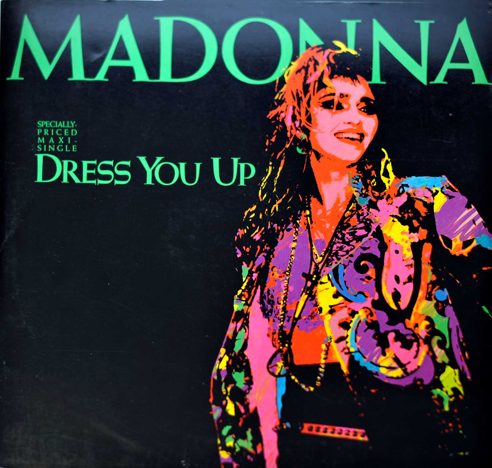large photo of the album front cover of: Madonna Dress You Up