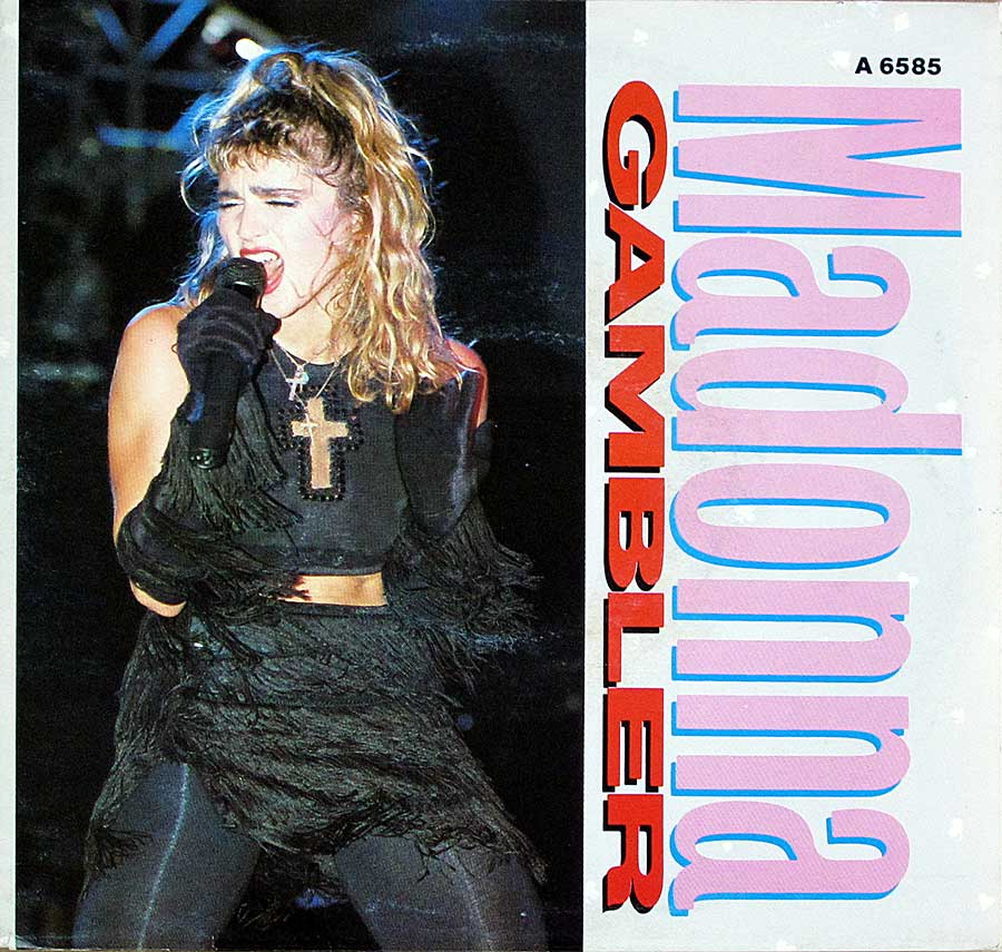 "MADONNA - Gambler 7"" 45RPM Picture Sleeve Single Vinyl front cover https://vinyl-records.nl"