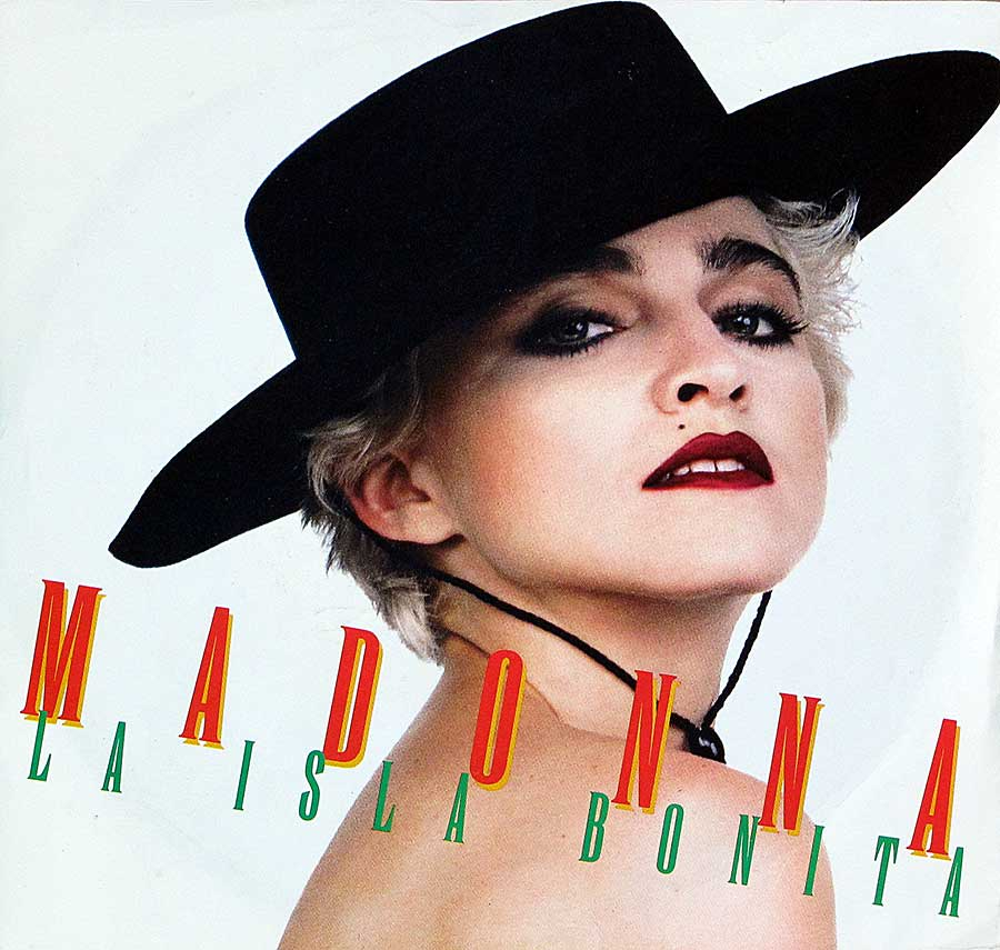"MADONNA - La Isla Bonita (Remix Edit) 7"" 45RPM Picture Sleeve Single Vinyl front cover https://vinyl-records.nl"