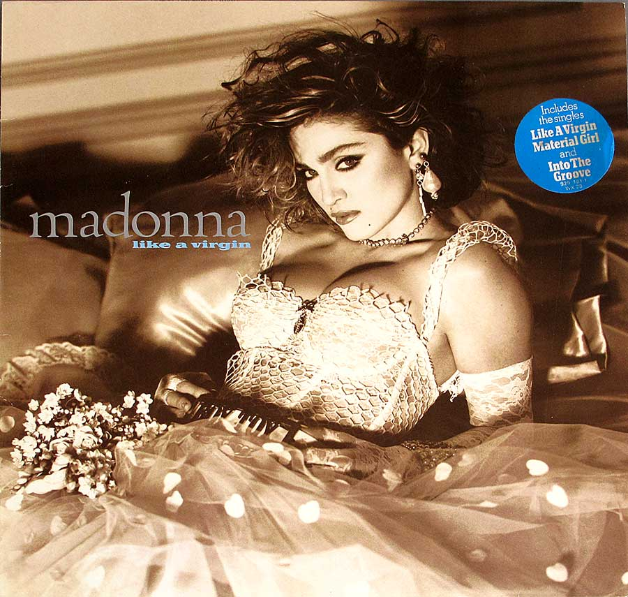 "MADONNA - Like a Virgin 12"" VINYL LP ALBUM  front cover https://vinyl-records.nl"
