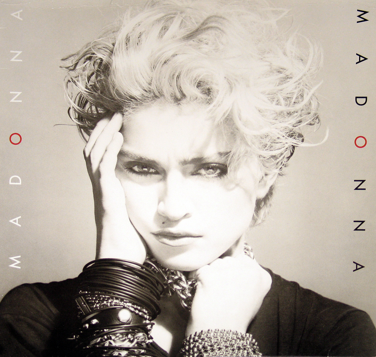large photo of the album front cover of Madonna