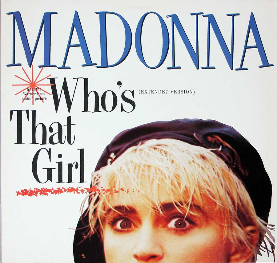 "MADONNA - Who's That Girl 12"" Vinyl Maxi-Single  front cover https://vinyl-records.nl"