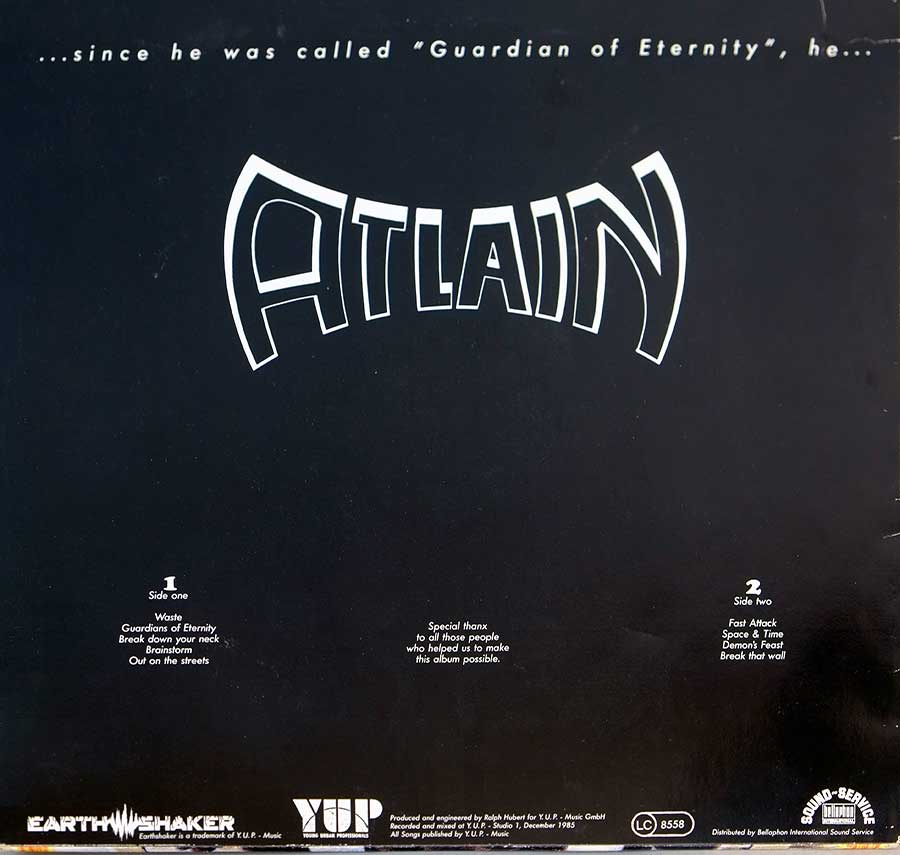 High Resolution Photo Album Back Cover of ATLAIN - G.O.E. https://vinyl-records.nl