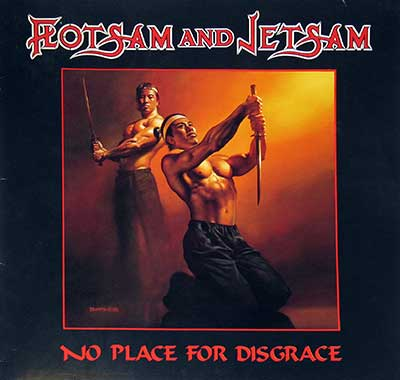 "Thumbnail Of  FLOTSAM AND JETSAM - No Place for Disgrace ( Netherlands release ) 12"" LP album front cover"