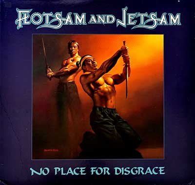 "Thumbnail Of  FLOTSAM AND JETSAM - No Place for Disgrace ( American Release ) 12"" LP album front cover"