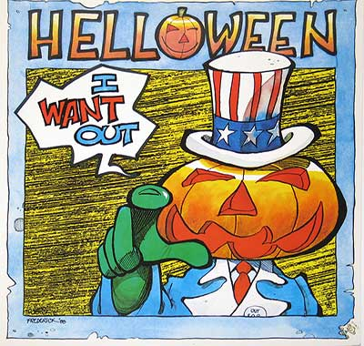 "Thumbnail of HELLOWEEN - I Want Out 12"" Maxi-Single album front cover"