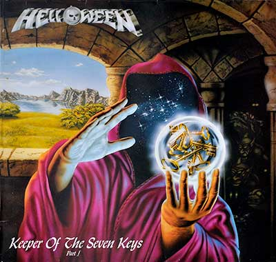 "Thumbnail of HELLOWEEN - Keeper Of The Seven Keys Part I Gatefold 12"" Vinyl LP Album album front cover"