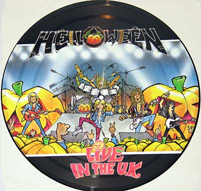 Thumbnail of HELLOWEEN - Live in the UK Picture Disc album front cover