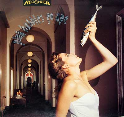 "Thumbnail of HELLOWEEN - Pink Bubbles Go Ape Gatefold 12"" Vinyl LP Album album front cover"