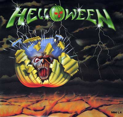 Thumbnail of HELLOWEEN - Self-titled Debut Mini-LP Banzai Records Canada album front cover
