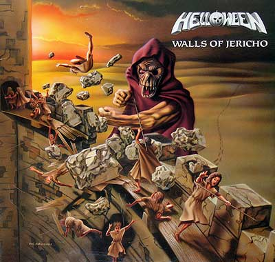 "Thumbnail of HELLOWEEN - Walls of Jericho Banzai Records Canada 12"" VInyl LP Album album front cover"