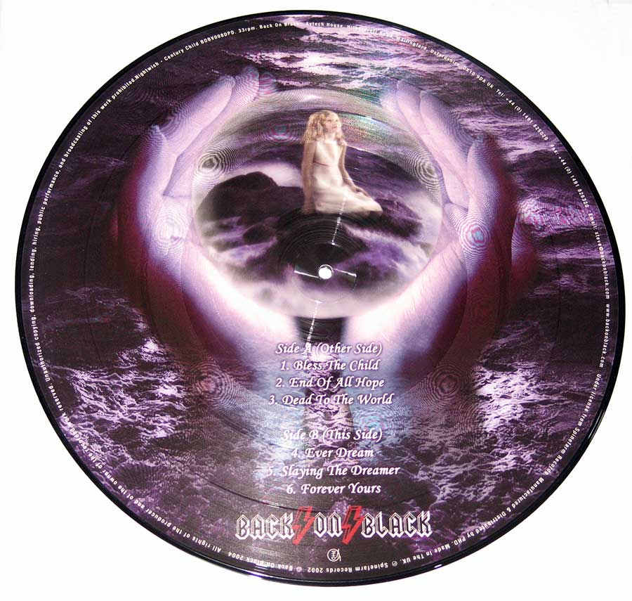 Large Hires Photo of Nightwish Picture Disc Reverse Side