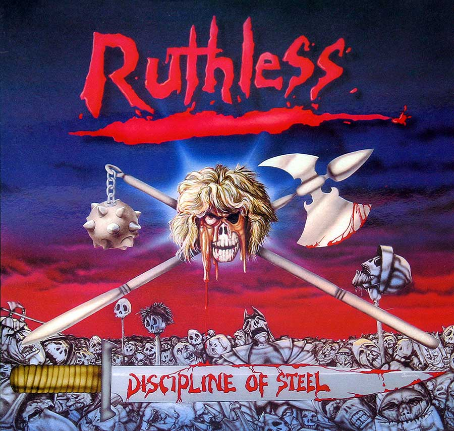 "RUTHLESS - Discipline Of Steel Axe Killer 12"" VInyl LP Album  front cover https://vinyl-records.nl"