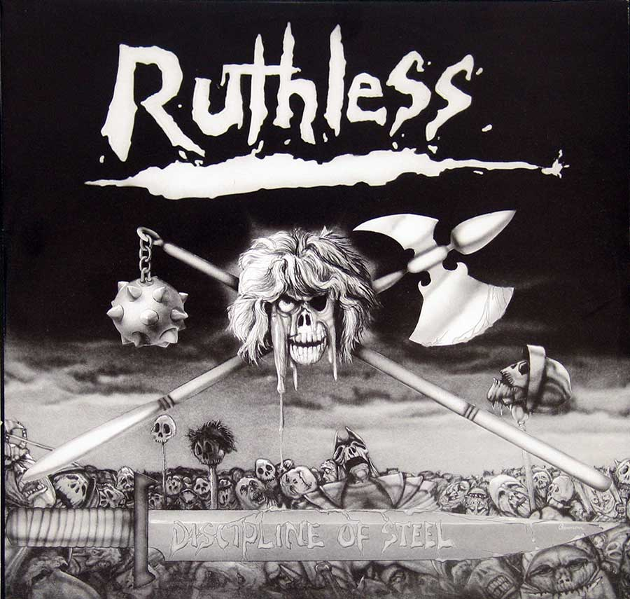 "RUTHLESS - Discipline Of Steel Axe Killer 12"" VInyl LP Album  custom inner sleeve"