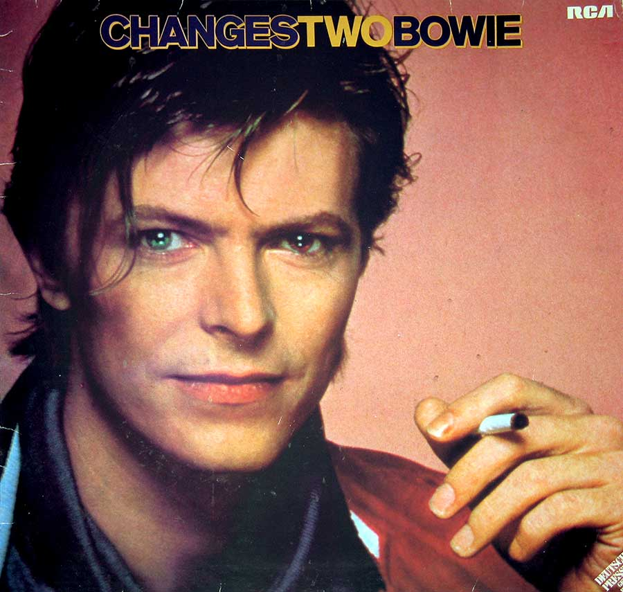 "Front Cover Photo Of DAVID BOWIE - Changestwobowie German Release 12"" Vinyl LP Album"