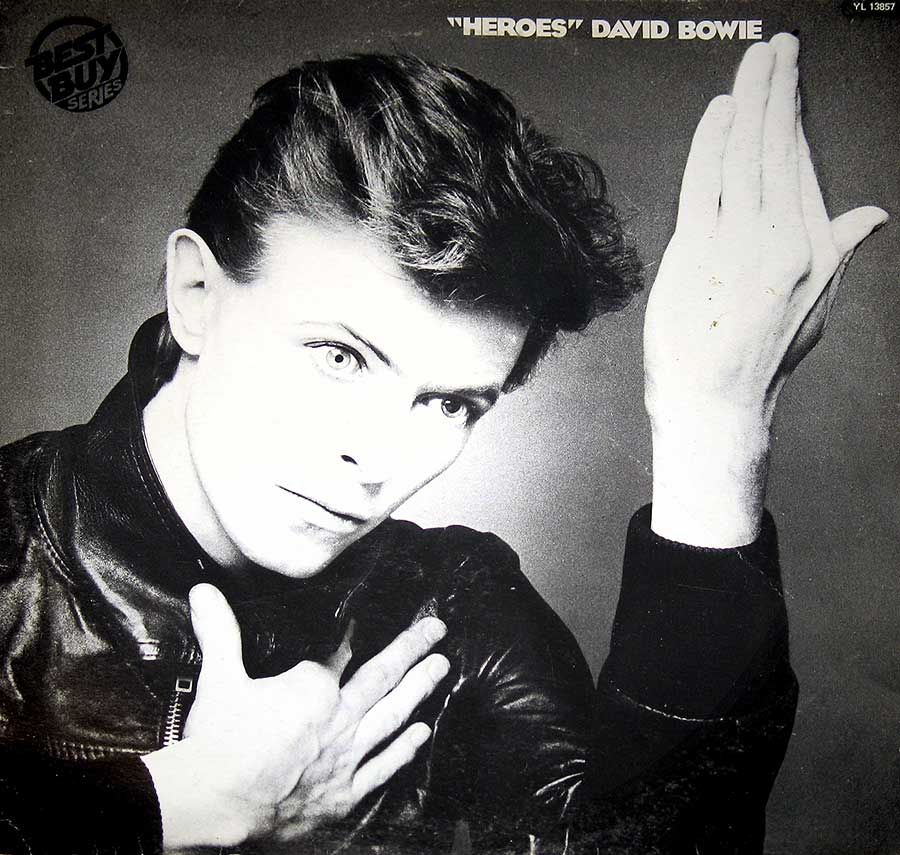 "Front Cover Photo Of DAVID BOWIE - Heroes Promo With Brian Eno, Robert Fripp 12"" Vinyl LP Album"
