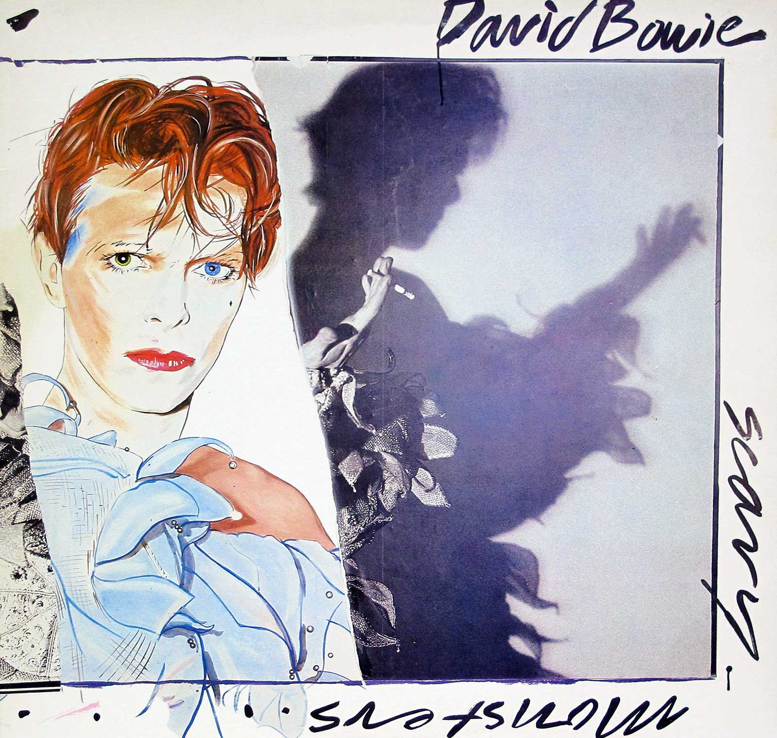 large photo of the album front cover of: Scary Monsters
