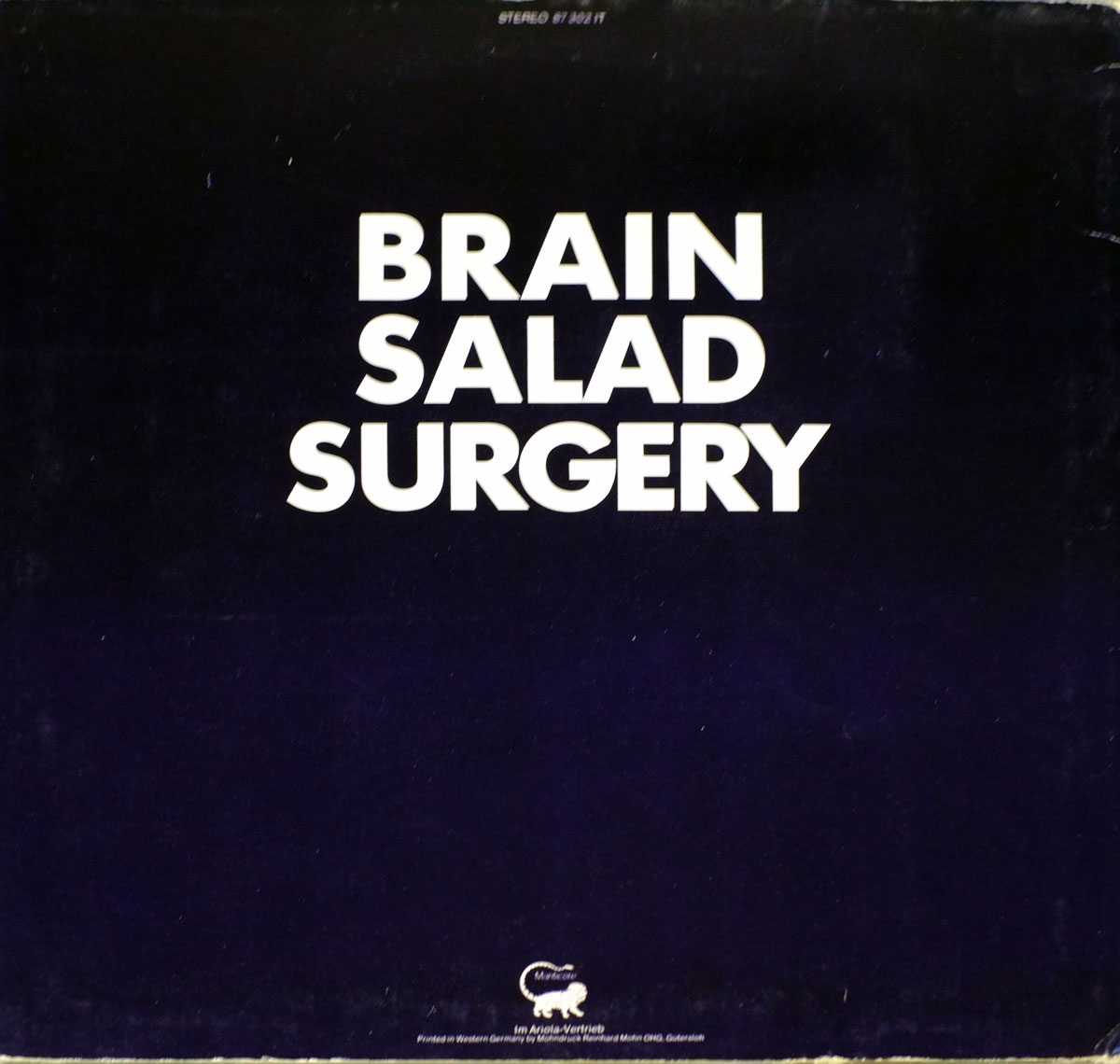 High Resolution Photo ELP Emerson Lake Palmer - Brain Salad Surgery Austria