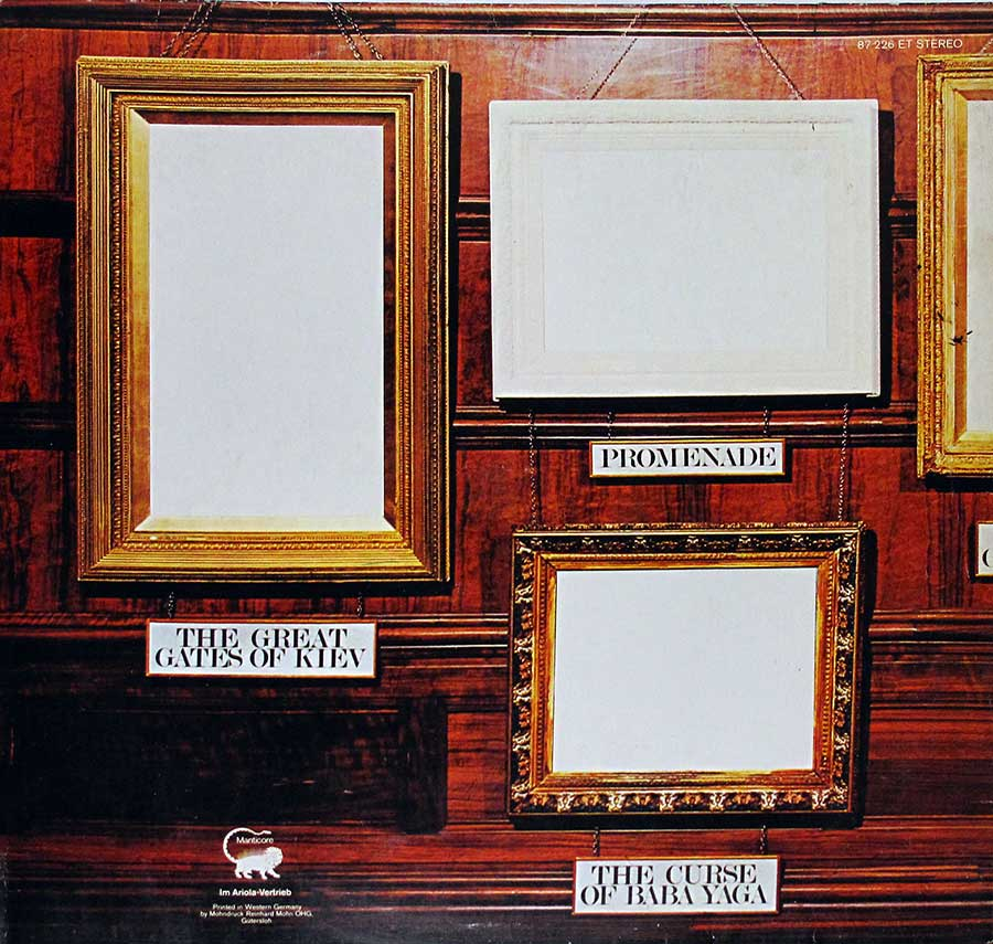 "Photo of album back cover Emerson Lake Palmer Pictures at an Exhibition ( Germany ) 12"" Vinyl LP Album"