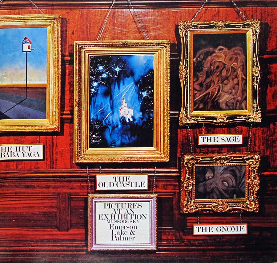 "Photo of the right page inside cover Emerson Lake Palmer Pictures at an Exhibition ( Germany ) 12"" Vinyl LP Album"