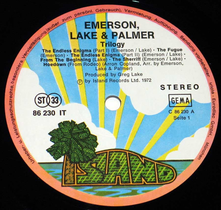 High Resolution Photo elp emerson lake palmer trilogy island