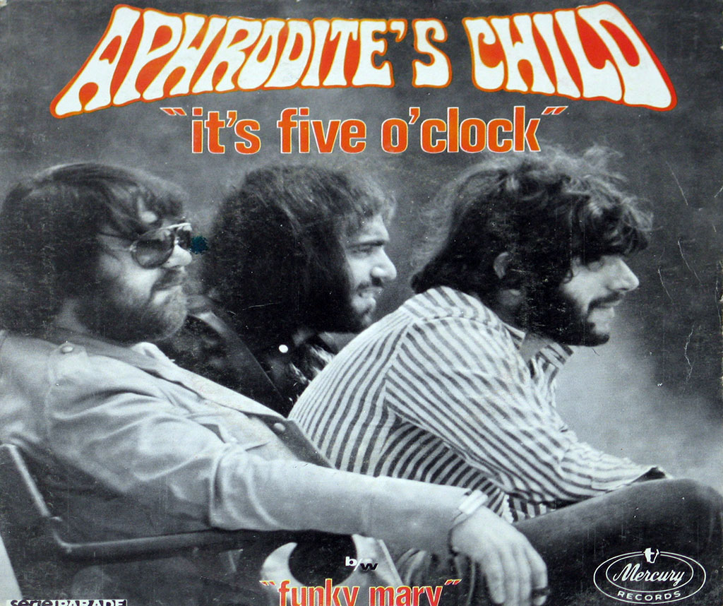 Picture Sleeve of APHRODITE'S CHILD - IT'S FIVE O'CLOCK / FUNKY MARY