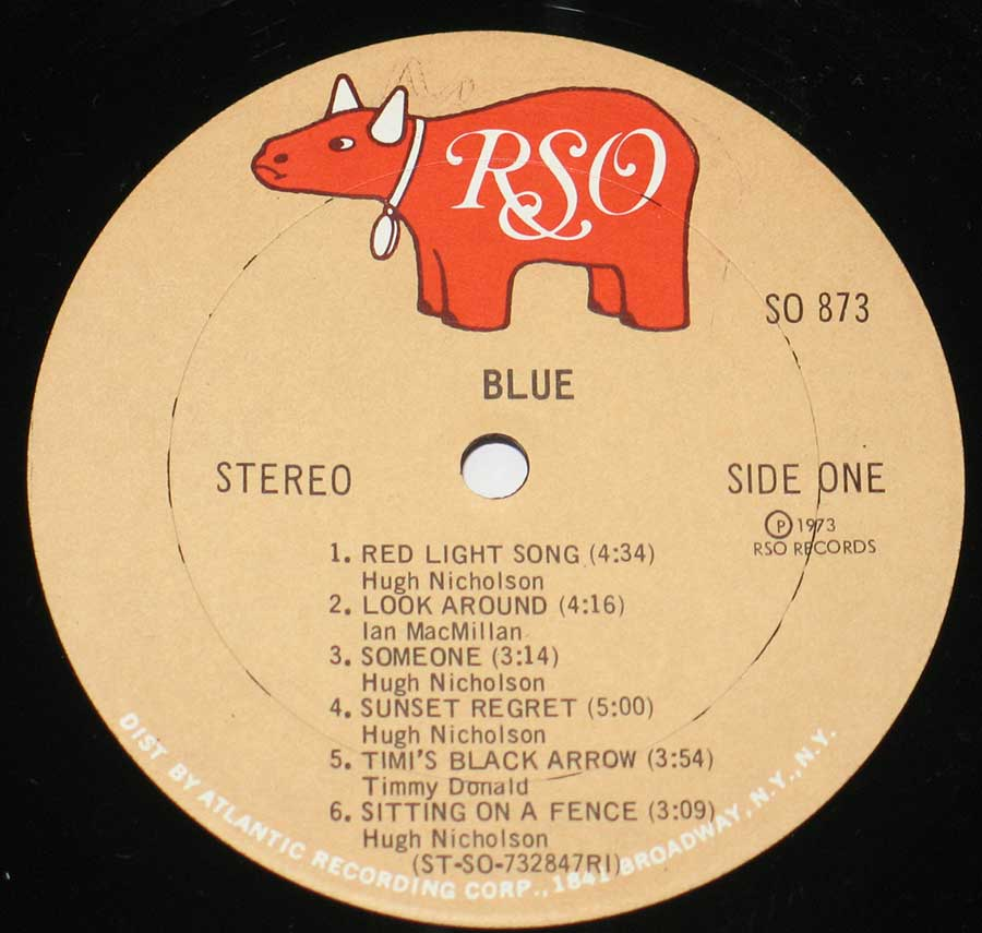 """BLUE"" Record Label Details: SO 973, RSO 2394-105 / Mooth Music ℗ 1973 RSO Records Sound Copyright"