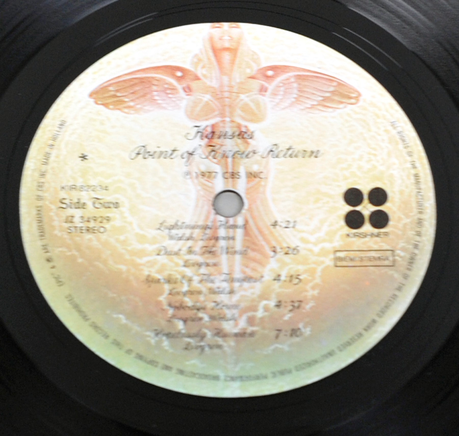 "Photo of ""KANSAS - Point of Know Return"" 12"" LP Record - Side Two:"