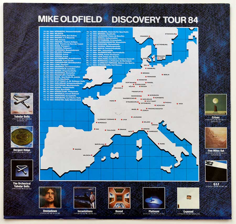 Photo of the custom inner sleeve MIKE OLDFIELD - Discovery (OIS)