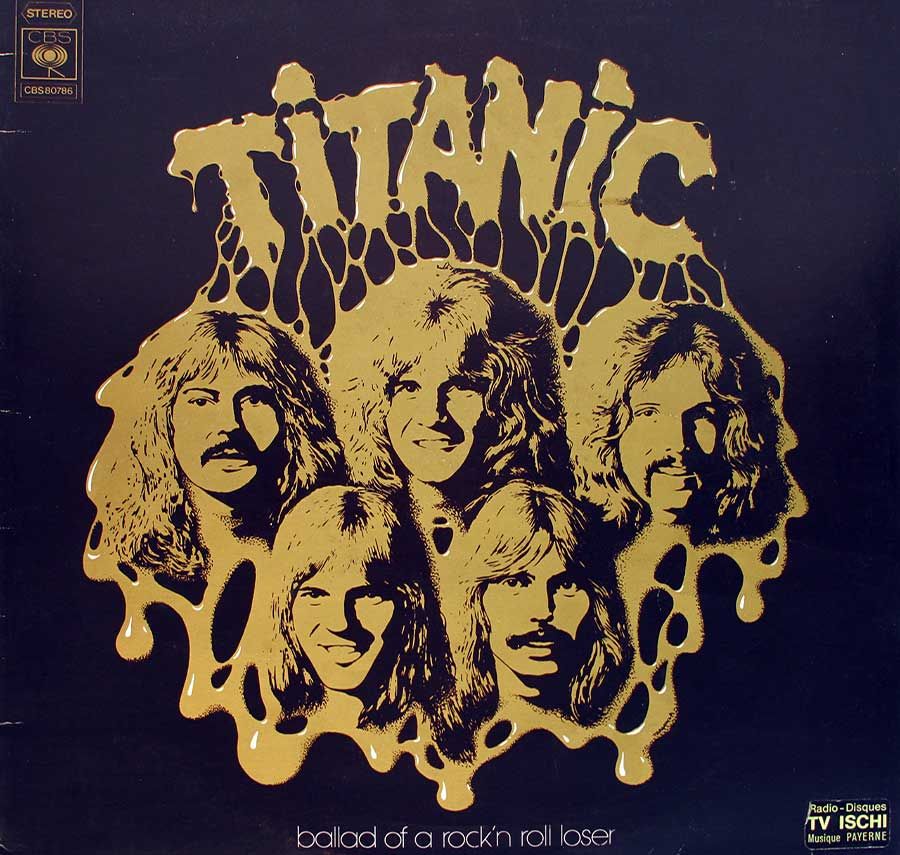"TITANIC - Ballad Of A Rock 'N' Roll Loser 12"" Vinyl LP ALbum front cover https://vinyl-records.nl"