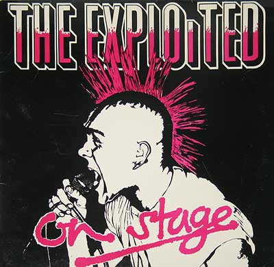 "Thumbnail of THE EXPLOITED - On Stage Live 12"" Vinyl Album album front cover"