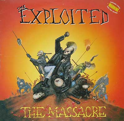 "Thumbnail of THE EXPLOITED - The Massacre 12"" Vinyl Album  album front cover"
